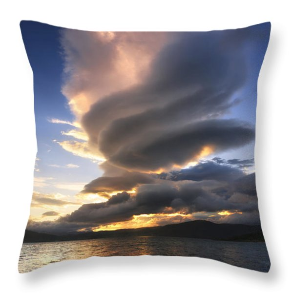 A Massive Stacked Lenticular Cloud Throw Pillow by Arild Heitmann
