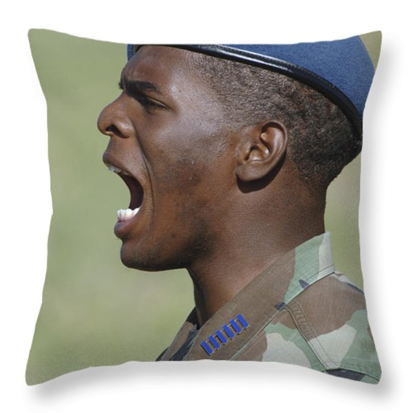 A Member Of The U.s. Air Force Academy Throw Pillow by Stocktrek Images