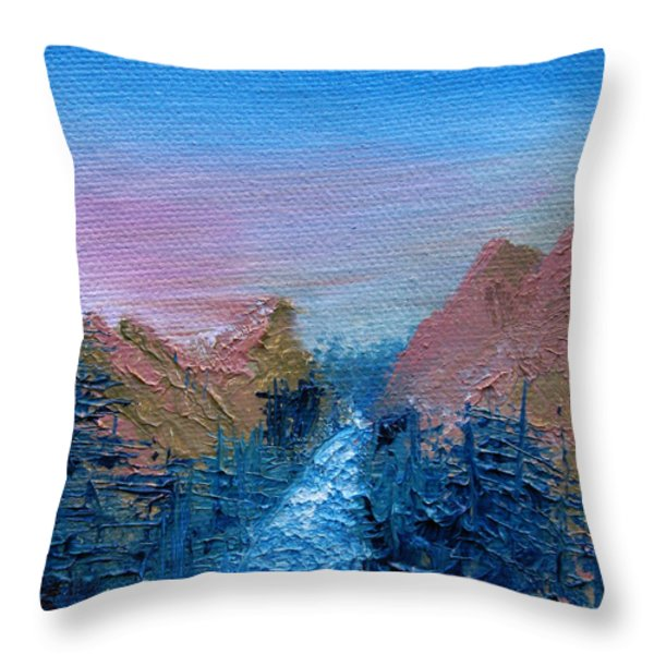 A Mighty River Canyon Throw Pillow by Jera Sky