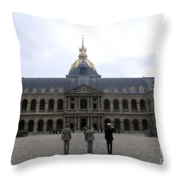 A Military Awards Ceremony Throw Pillow by Stocktrek Images