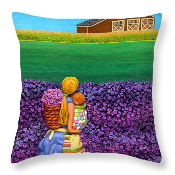 A MOMENT - Crop Of Original - To See Complete Artwork Click View All Throw Pillow by Anne Klar