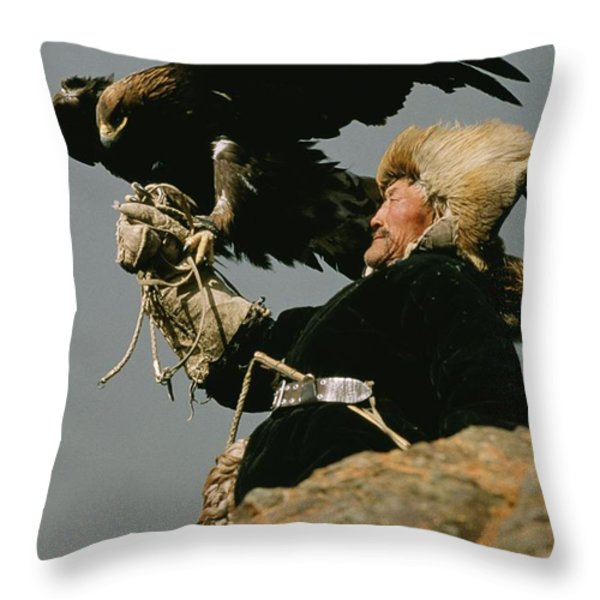 A Mongolian Throw Pillow by David Edwards