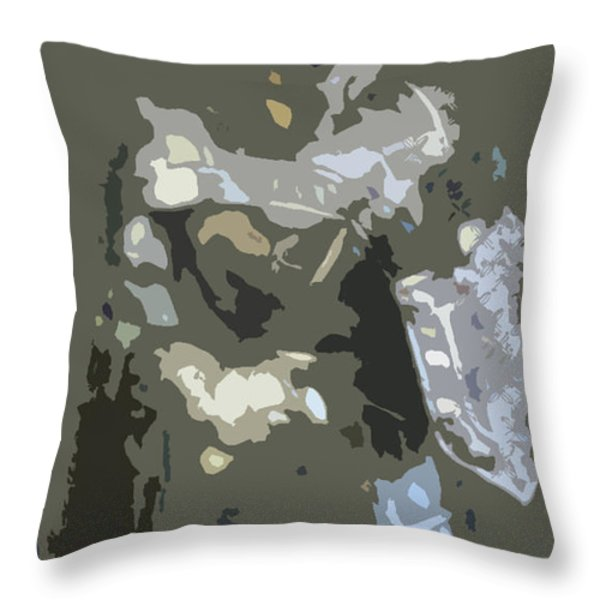 A Nightly Knight Throw Pillow by Karen Francis