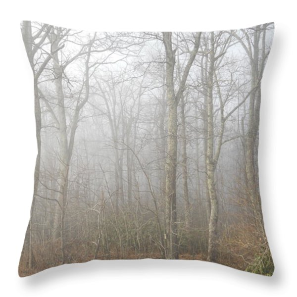 A Perfectly Beautiful Foggy Morning Throw Pillow by Diannah Lynch
