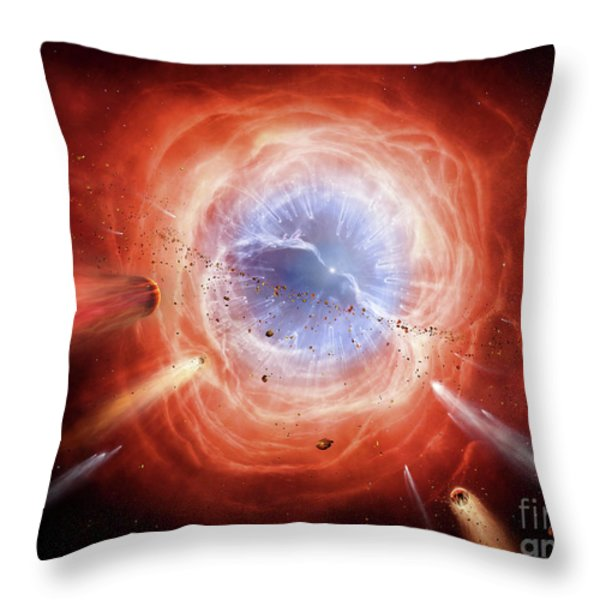 A Planetary Nebula Is Forming Throw Pillow by Brian Christensen