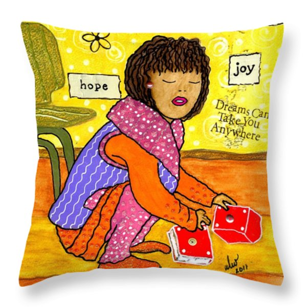A Prayer That Dreams Come True Throw Pillow by Angela L Walker