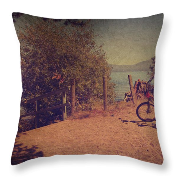 A Ride Down To The Lake Throw Pillow by Laurie Search