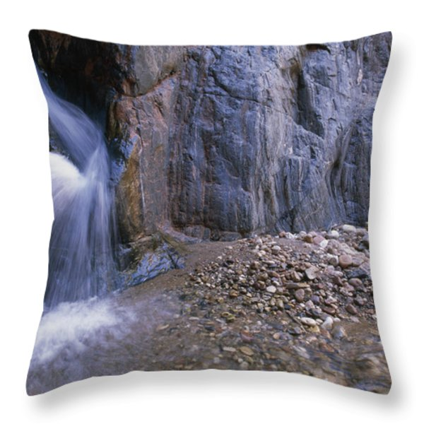 A River Guide Escapes The Heat Next Throw Pillow by Bill Hatcher