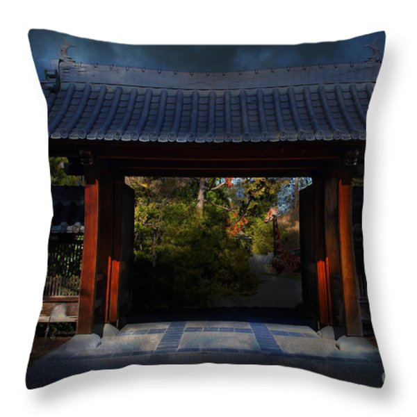 A Samurai.s Menagerie . 7D12779 Throw Pillow by Wingsdomain Art and Photography