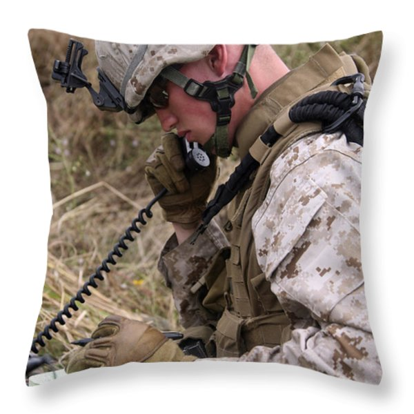A Satellite Communications Specialist Throw Pillow by Stocktrek Images