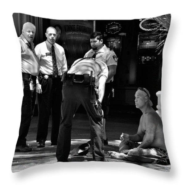A scene in Las Vegas Throw Pillow by RicardMN Photography