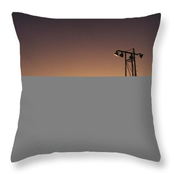 A Silhouette Shows A Crowd Watching Throw Pillow by Stephen Alvarez
