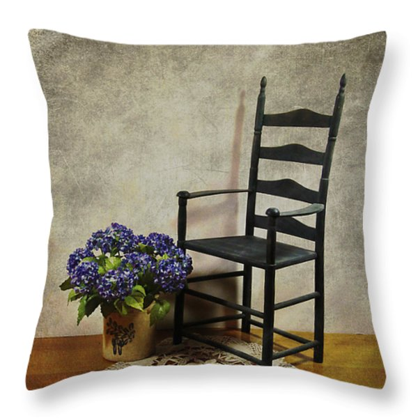 A Simpler Time Throw Pillow by Judi Bagwell
