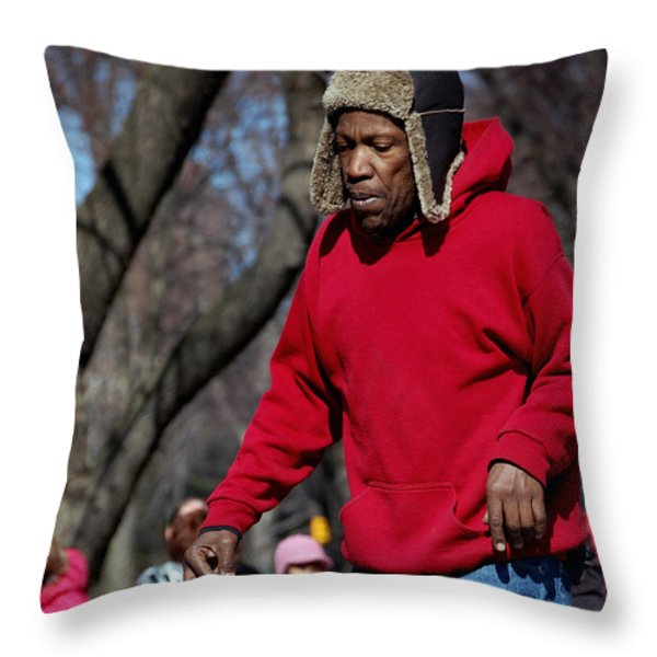 A Skater In Central Park - 2 Throw Pillow by RicardMN Photography
