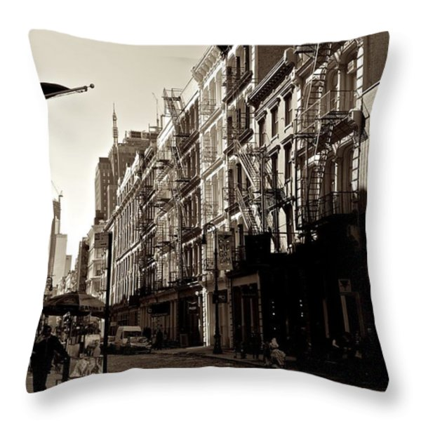 A Slice Of Soho Throw Pillow by Eric Tressler