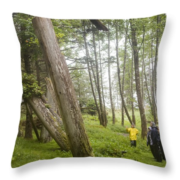 A Small Group Of People Look Throw Pillow by Taylor S. Kennedy