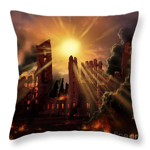 A Solar Flare, An Enormous Eruption Throw Pillow by Ron Miller