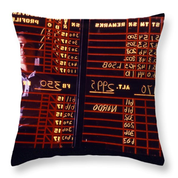 A Student Learns To Write Backwards Throw Pillow by Michael Wood