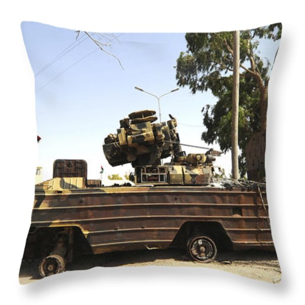 A Surface-to-air Missile Air Defense Throw Pillow by Andrew Chittock