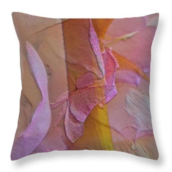A Thorn's Beauty Throw Pillow by Gwyn Newcombe
