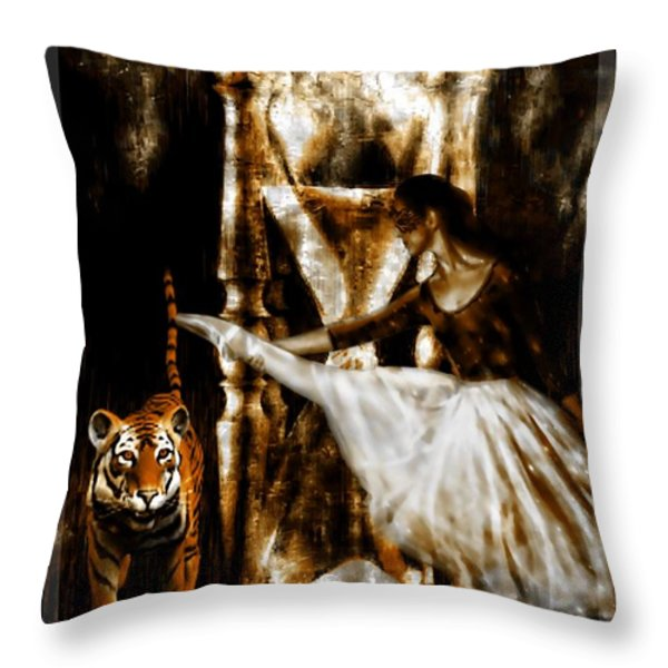A Time To Dance Throw Pillow by Tisha McGee