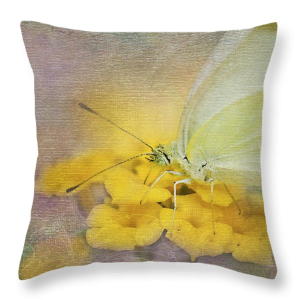 A Touch Of Yellow Throw Pillow by Betty LaRue