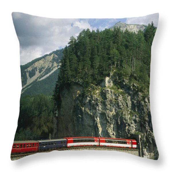 A Train Passes Into A Throw Pillow by Taylor S. Kennedy