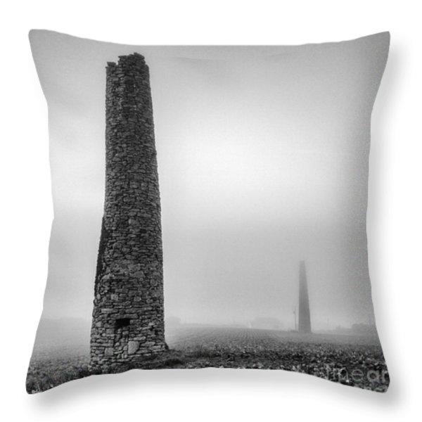 A Twin cornish mine chimneys Throw Pillow by John Farnan