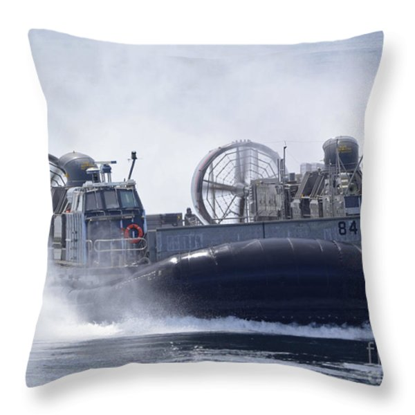 A U.s. Marine Corps Landing Craft Air Throw Pillow by Stocktrek Images