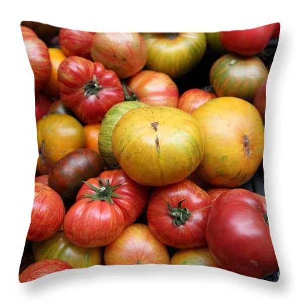 A Variety of Fresh Tomatoes - 5D17840 Throw Pillow by Wingsdomain Art and Photography
