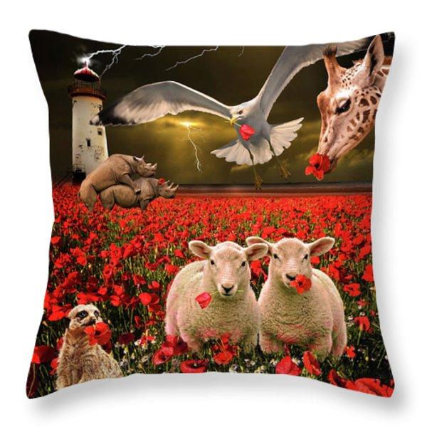 a very strange dream Throw Pillow by Meirion Matthias