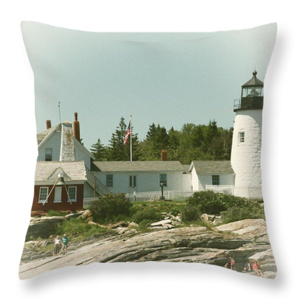 A View From The Water Throw Pillow by Karol Livote