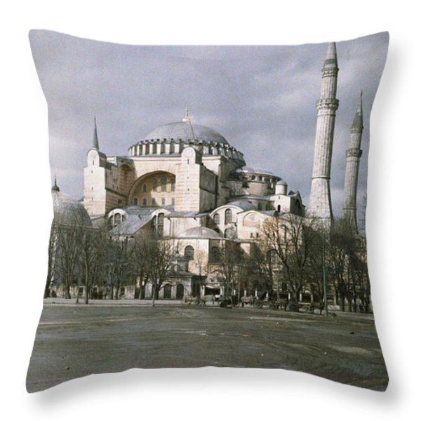 A View Of Sancta Sophia From Arcoss Throw Pillow by Maynard Owen Williams