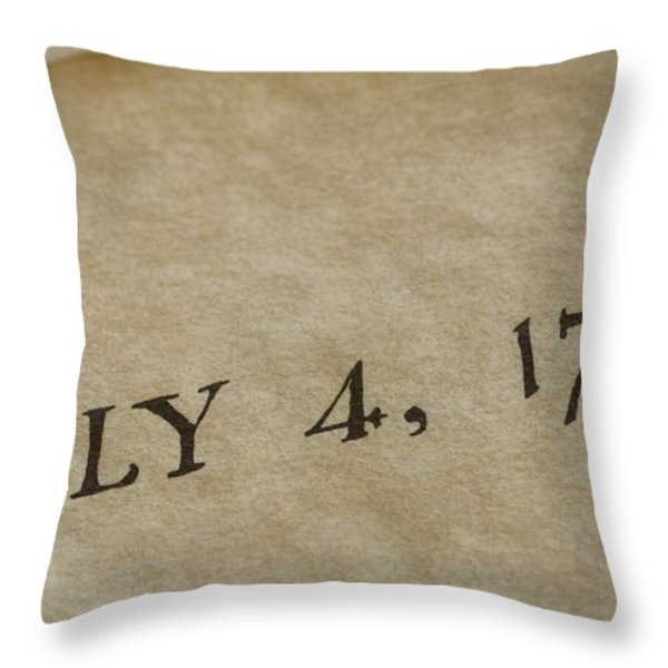 A View Of The Declaration Throw Pillow by Taylor S. Kennedy