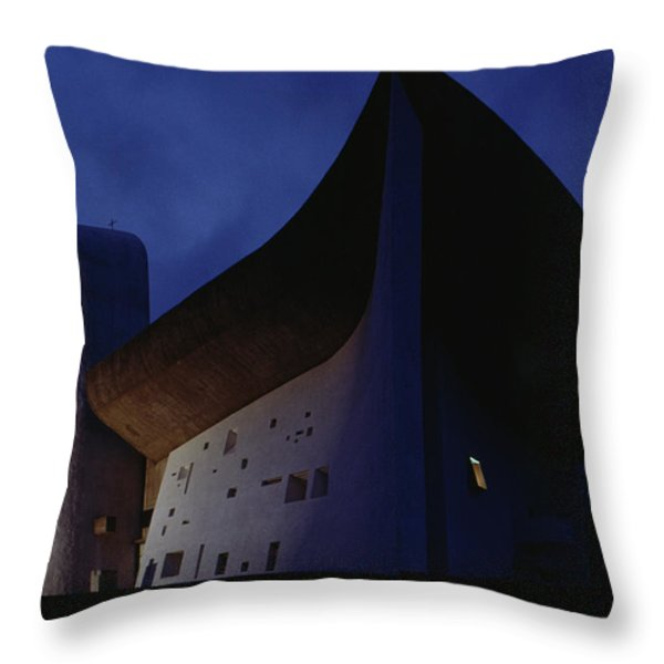 A View Of The Exterior Of The Chapel Throw Pillow by James L. Stanfield