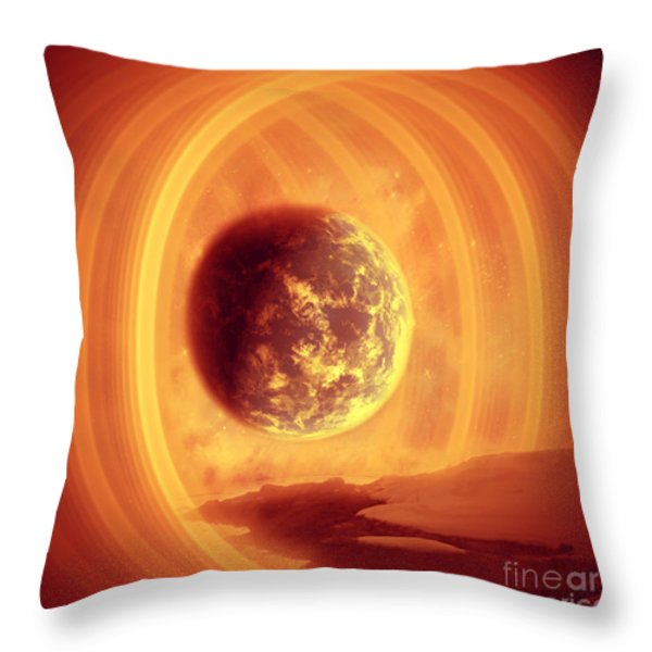 A Whole New World Throw Pillow by Ester  Rogers