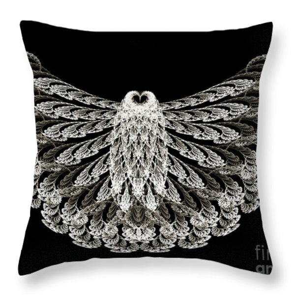 A Wise Old Owl Throw Pillow by Andee Design