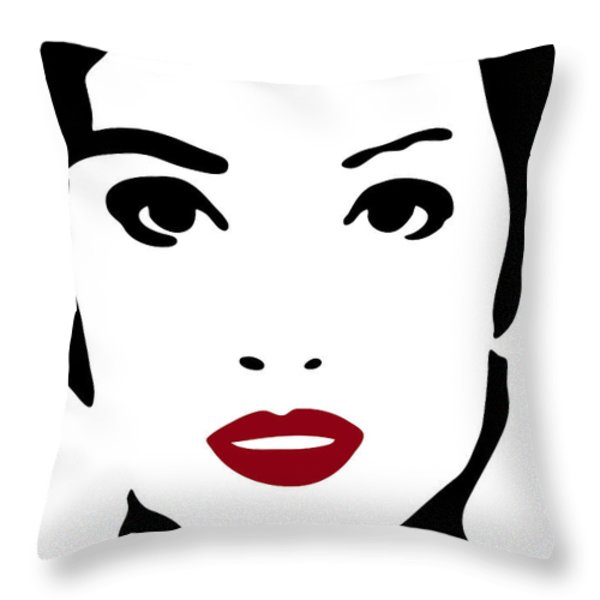 A Woman In Fashion Throw Pillow by Frank Tschakert