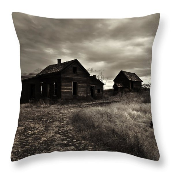 Abandoned Throw Pillow by Mike  Dawson