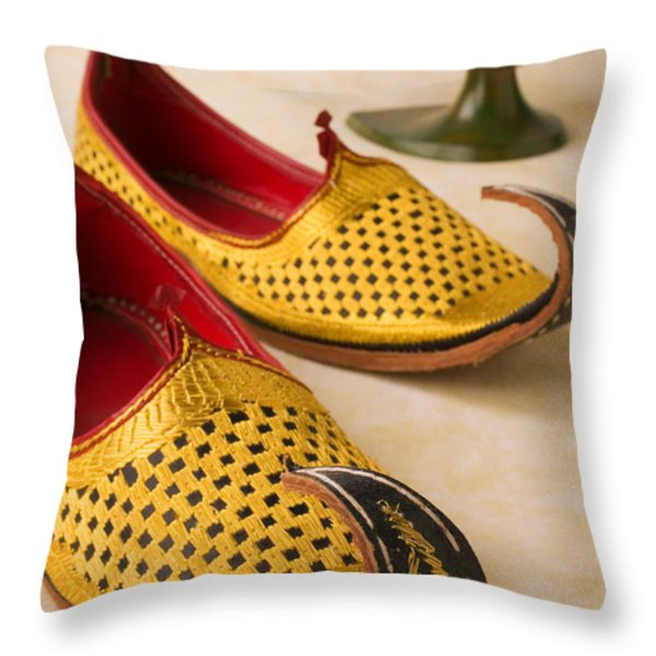Abarian Shoes Throw Pillow by Garry Gay
