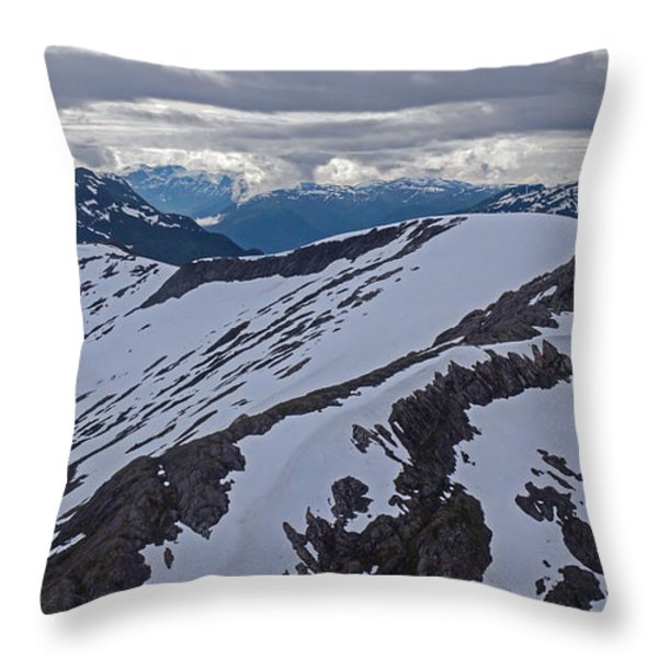 Above the Ridge Throw Pillow by Mike Reid