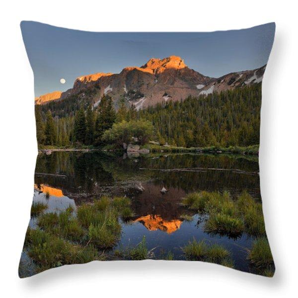 Absaroka Range Reflection Throw Pillow by Leland D Howard