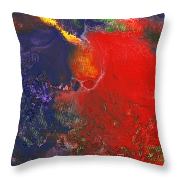 Abstract - Crayon - Andromeda Throw Pillow by Mike Savad