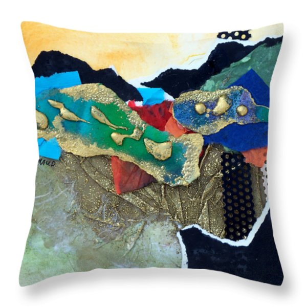 Abstract 2011 No.1 Throw Pillow by Kathy Braud