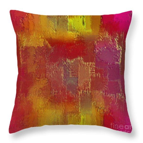 Abstract 258 Throw Pillow by John Krakora