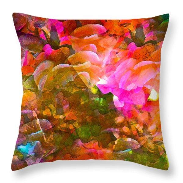Abstract 271 Throw Pillow by Pamela Cooper