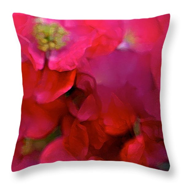 Abstract 277 Throw Pillow by Pamela Cooper