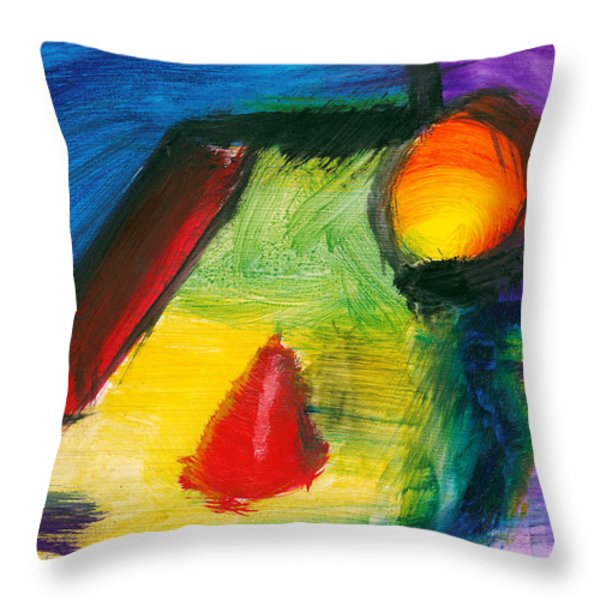 Abstract - Acrylic - Primitives Throw Pillow by Mike Savad