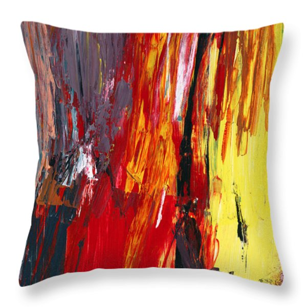 Abstract - Acrylic - Rising Power Throw Pillow by Mike Savad