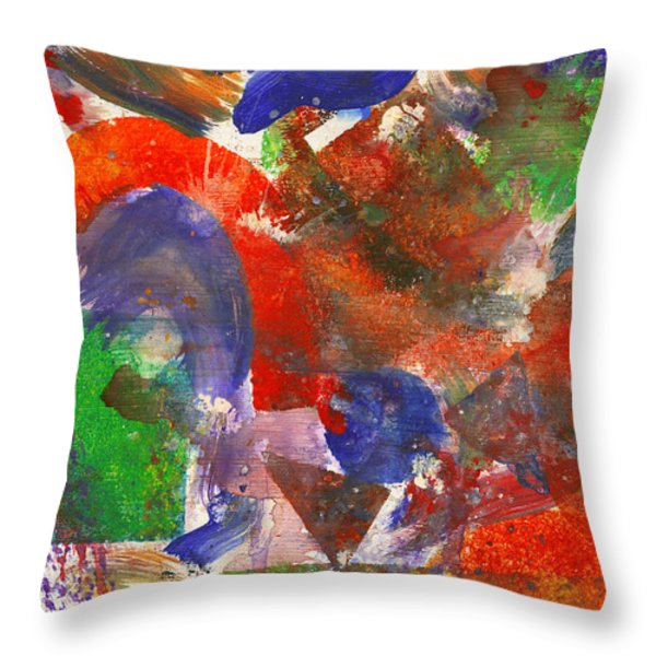 Abstract - Acrylic - Synthesis Throw Pillow by Mike Savad
